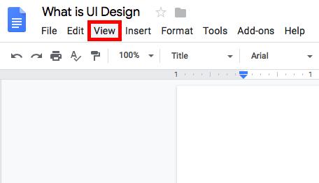 Google Docs outline