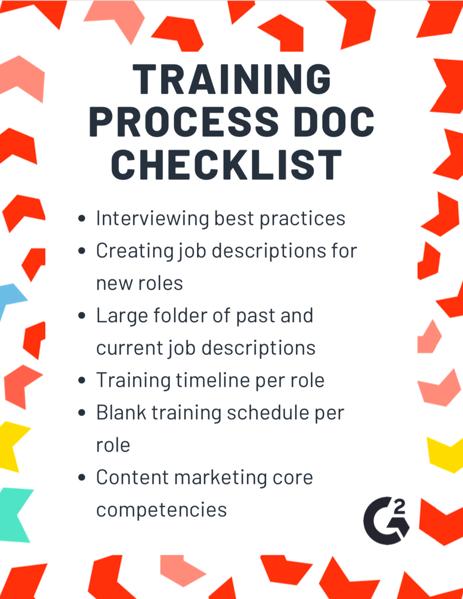 training process doc checklist