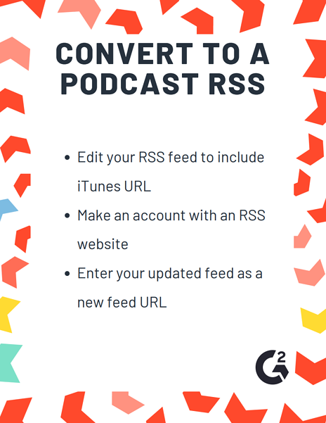 convert to podcast rss