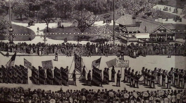 First Labor Day parade NYC 1882