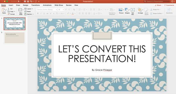 convert a powerpoint presentation