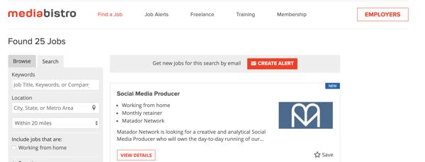online writing jobs mediabistro