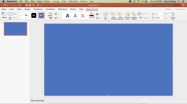 fill slide with shape powerpoint border
