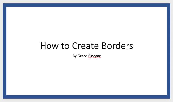 border example powerpoint border