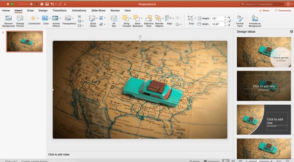 insert image powerpoint background