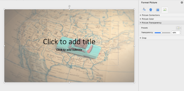 adjust transparency powerpoint background
