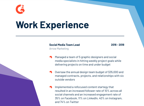 how to write a work experience summary