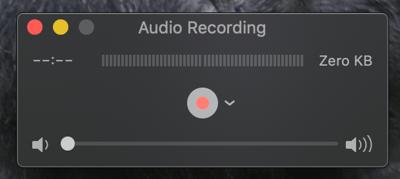 quicktime audio record