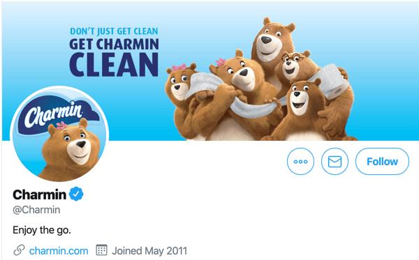 Charmin Twitter Account
