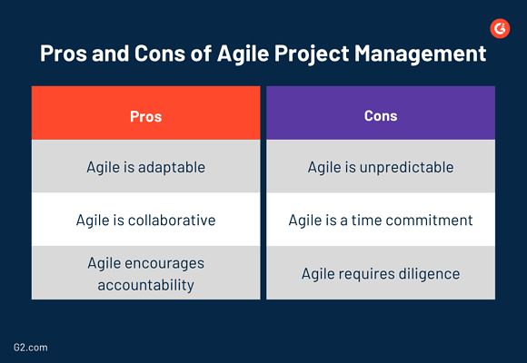 pros and cons of agile project management