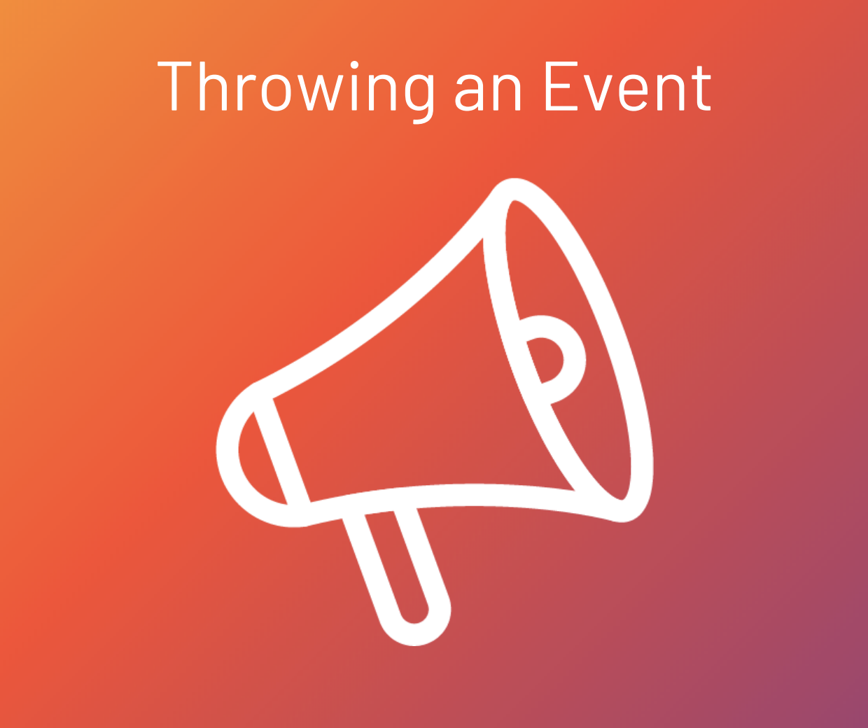 throwing an event