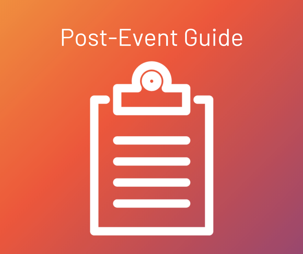 post-event guide