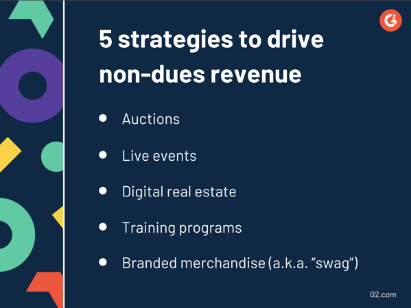 strategies to drive non-dues revenue