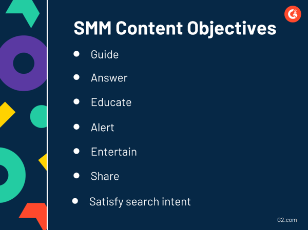 SMM content objectives