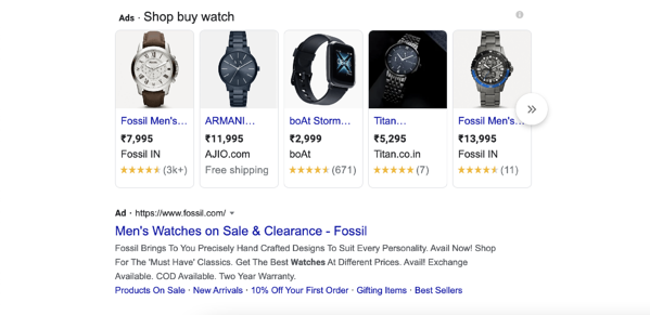 product listing ads example