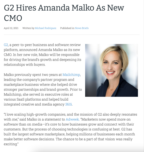 new hire press release example