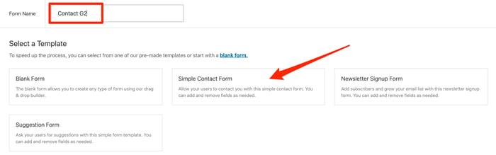 Name WordPress contact form
