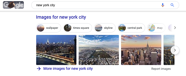 Google Search for New York City