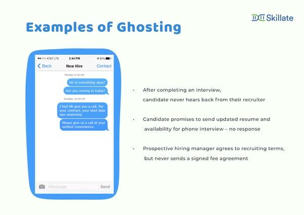ghosting examples