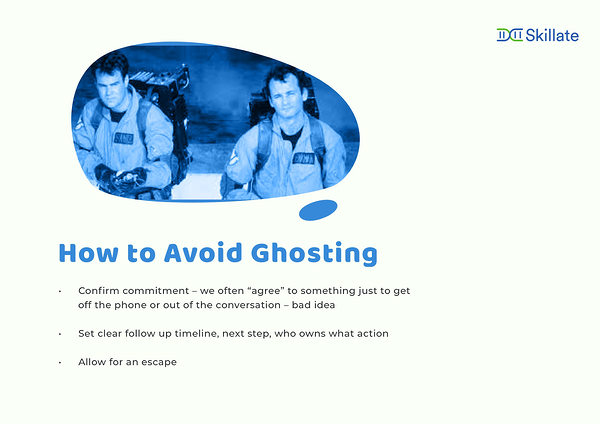 how to avoid ghosting
