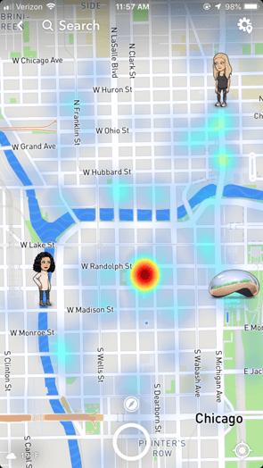 Snap Map Heatmap
