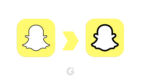 snapchat logo transformation
