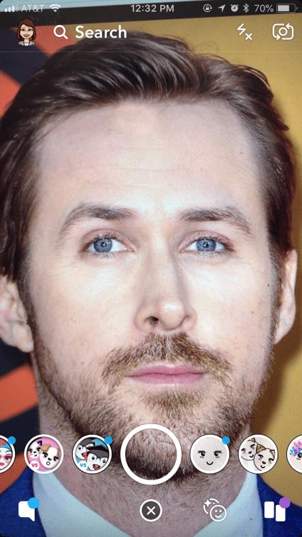 Ryan Gosling Snapchat