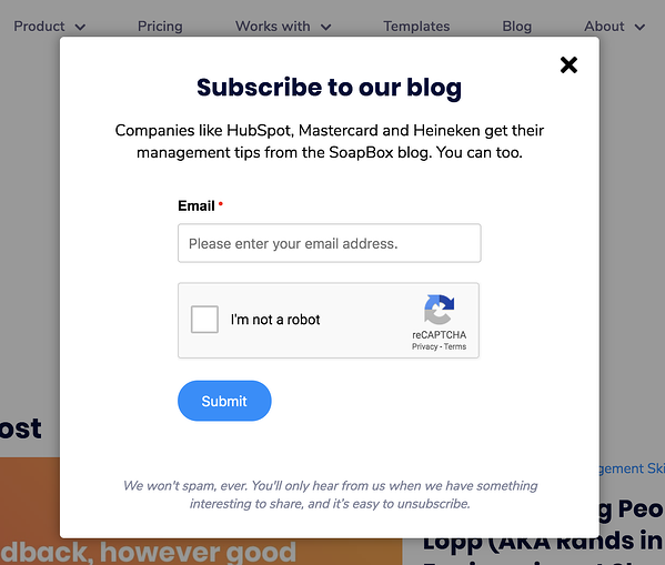 freemium subscription to blog