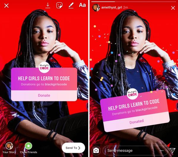 Instagram Donate Button