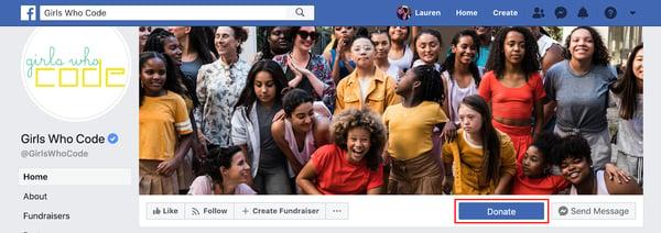 FB Donate button