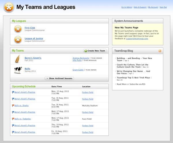 teamsnap best sports league management software