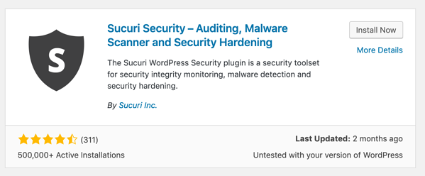 Sucuri Security WordPress plugin