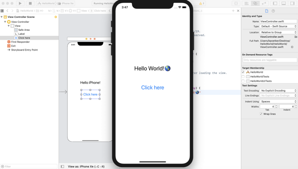 Swift Xcode tutorial for app