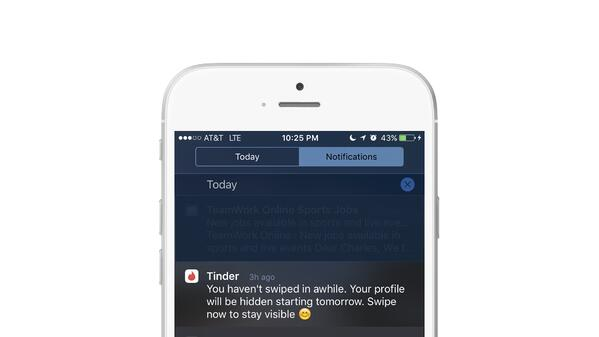 Tinder utilizes push notification software to boost use by their customers