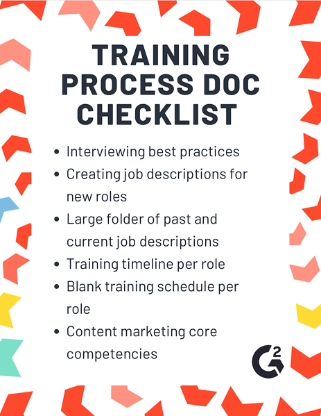 content marketing training process doc checklist