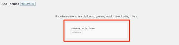Install a custom WordPress theme