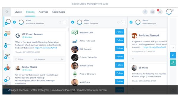 Vbout Social media management
