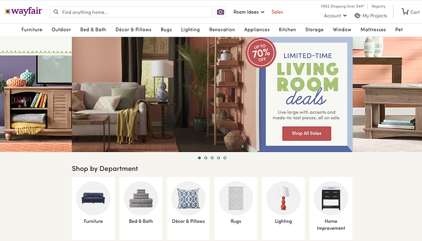 Wayfair is a good online marketplace for niche items.