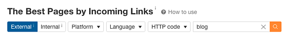 incoming links pages