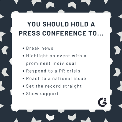 When you should hold a press conference