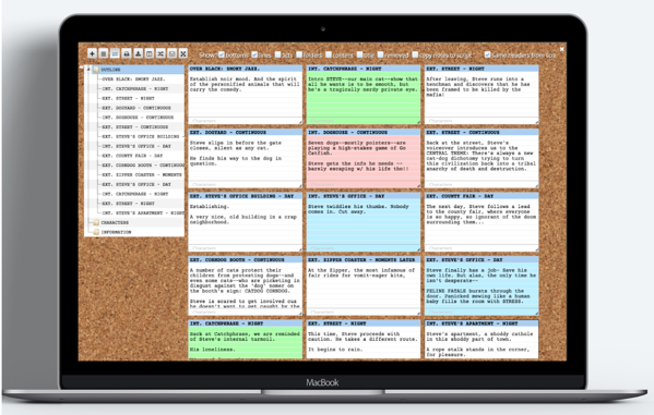 WriterDuet interface, a type of free screenwriting software
