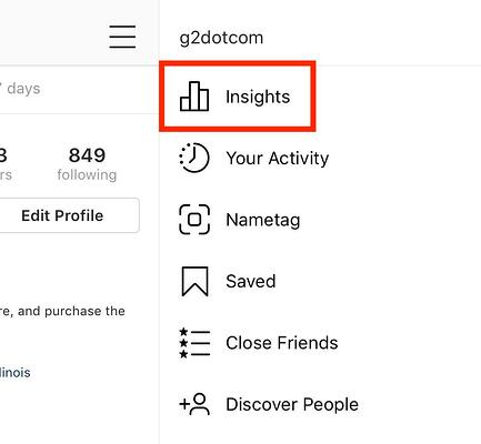 accessing instagram insights