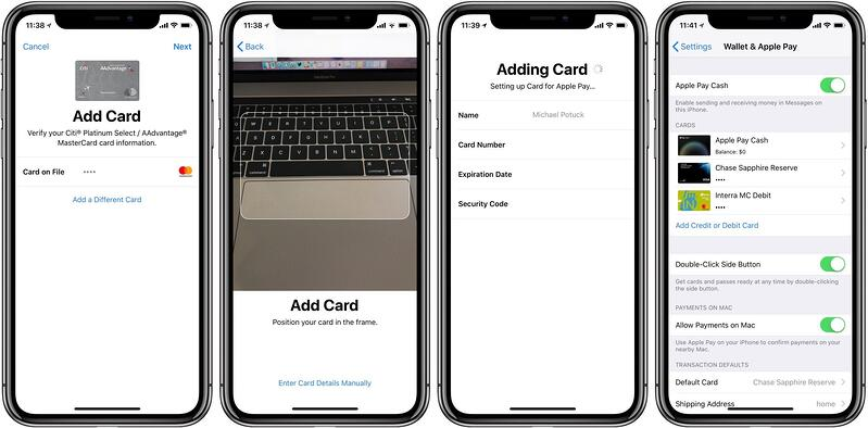 Add a card to Apple Pay