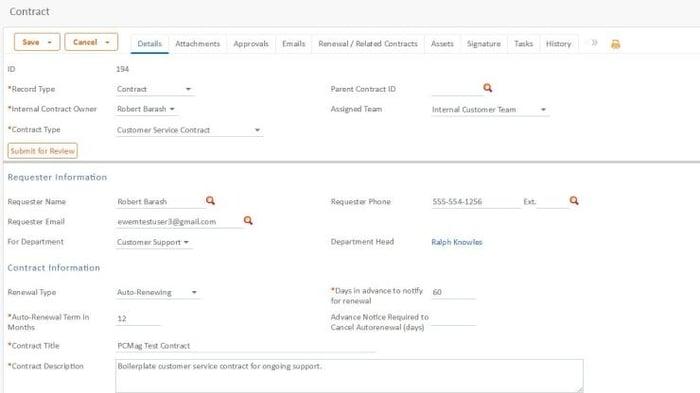Agiloft free contract management software
