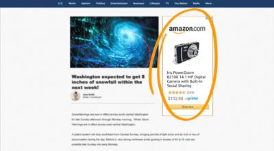 amazon sponsored display ad example