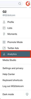 analytics tab on twitter