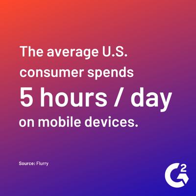 5 hours app usage statistic