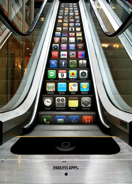 apple guerilla marketing apps