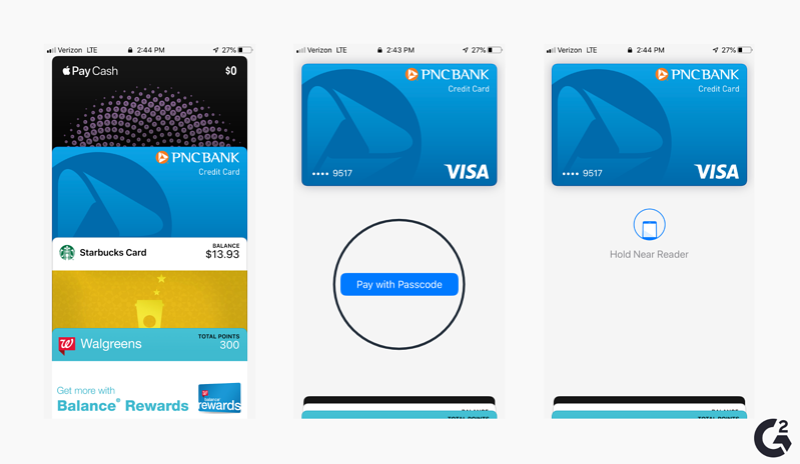 Screenshots of Apple Wallet shortcut
