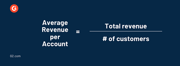 average revenue per account formula